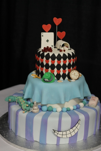 Another Alice in Wonderland cake - the smile is brilliant.